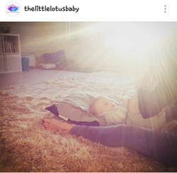 relax in the little lotus baby studi