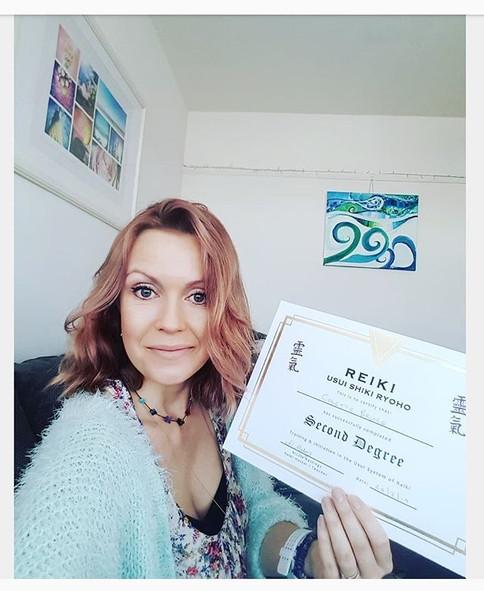 🎉Wooohooo I have my Reiki 2 certificate