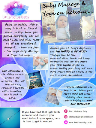 Going on Holiday with your Baby...