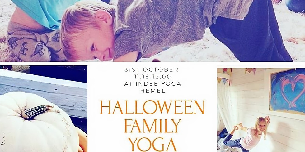 Family Yoga Halloween Special at INDEE YOGA
