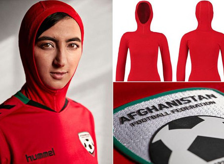 Hummel Designs Soccer Jersey with Hijab for Afghan Women's Team