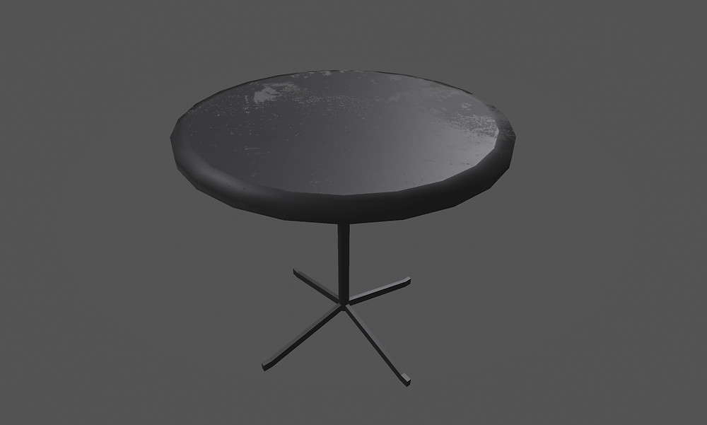3d Round Table Breakable Prop