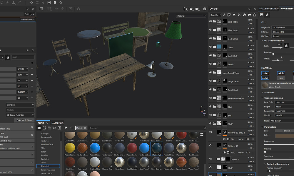 Painting 3d Breakable Props in Substance Painter