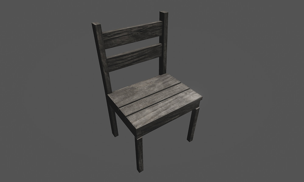 3d Chair Breakable Prop
