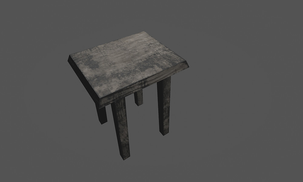 3d Stool Breakable Prop