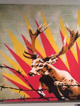 Bambi Idomeni, 120 x 120 com, spray on w