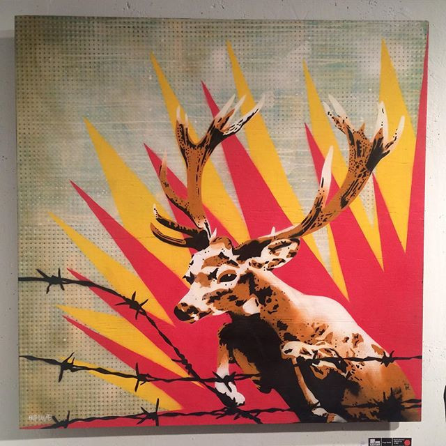 Bambi Idomeni, 120 x 120 com, spray on w