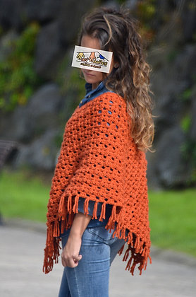 Poncho corto lana TEJA (Ref. A009)