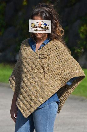 Poncho corto lana BEIGE (Ref. A012)