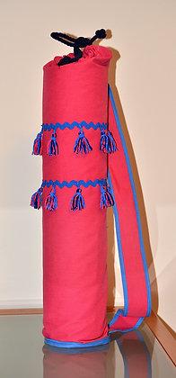 Bolsa yoga fucsia borlas (Ref.Y032)