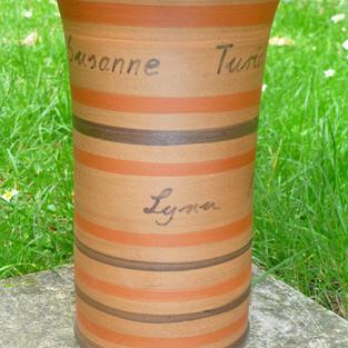 Vase mit Namen