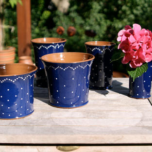 Übertopf und Vasen