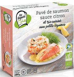 Pavé de saumon sauce citron
