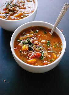 Soupe lentilles et carottes