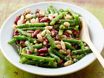 Salade de haricots et de noix