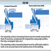 Monteringskarm ISO 80