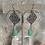 Thumbnail: Silver Chrysoprase IronWork Hoops