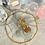 Thumbnail: Mini Gold Hoop Blossom Drop