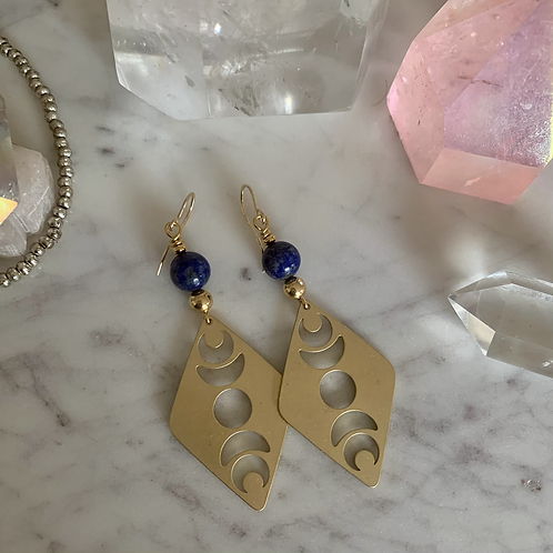 Lapis Lazuli Brass Phases of the Moon