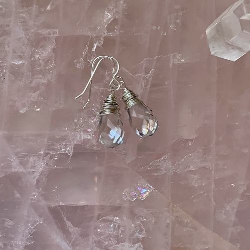 Silvery AB Chinese Crystal Drops