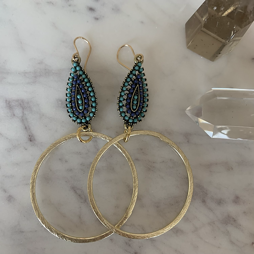 Natura Brushed Gold Hoops