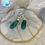 Thumbnail: Emerald lightweight Silver Hoops