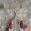 Thumbnail: Brass Ruby Drop Hoops