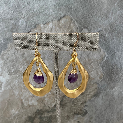 Golden Wrapped Amethyst