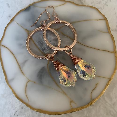 Rose Gold Swarovski Luster Crystal