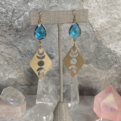 Topaz Brass Phases of the Moon