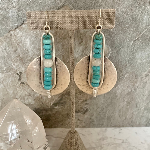 Turquoise & Moonstone Silver