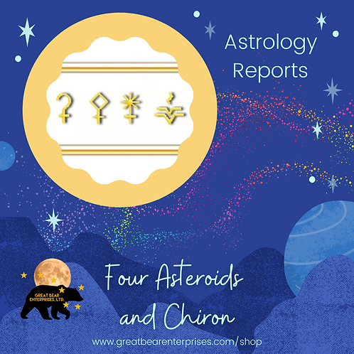 Four Asteroids and Chiron
