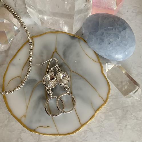 Silver Stunner Swarovski Crystals
