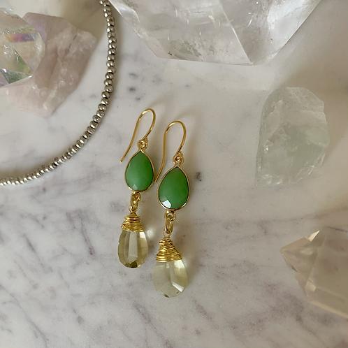 Golden Lemon Lime Crystal Drops