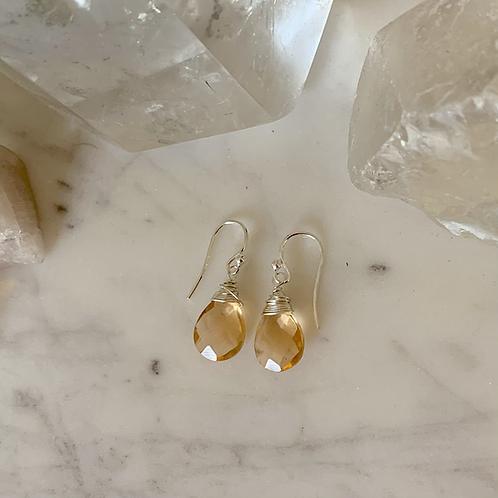 Sterling Silver Peach Drops