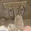 Thumbnail: Navy Blue Czech Silver Ovals