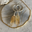 Thumbnail: Large Citrine Crystal Point Hoops