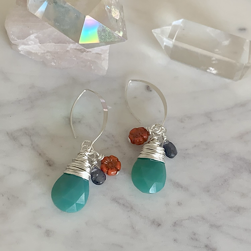 Sweet Marquise Chalcedony Drops