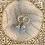 Thumbnail: Silver Wrapped Blue Chalcedony Drops