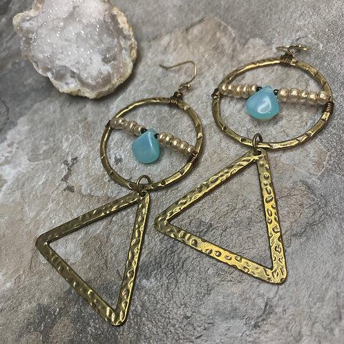 Brass Hoop Pyramid