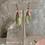 Thumbnail: Rose Gold Green Opal Drops