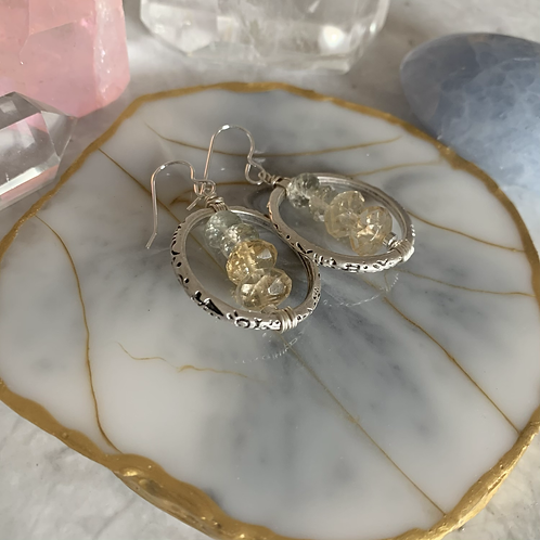 Citrine & Amethyst Embellished Rings