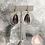 Thumbnail: Brass Amethyst Hoops