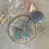 Thumbnail: Aqua Chalcedony Delicate Double Silver Hoops