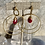 Thumbnail: Double Brass Ruby Hoops