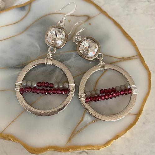 Silver Glam & Garnet