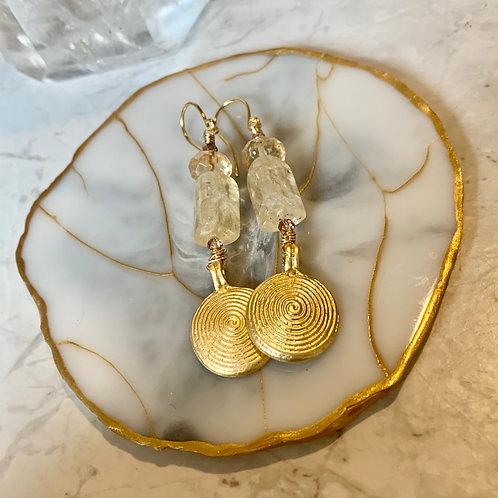 Citrine Gold Spirals