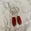 Thumbnail: Silver Pink Tourmaline Long Drops
