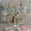 Thumbnail: Brushed Gold Aqua Chalcedony Hoops