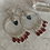 Thumbnail: Garnet Raindrop Hoops with Topaz